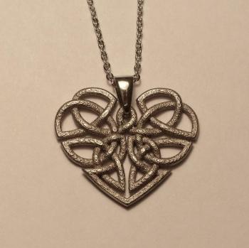 Heart Celtic Knot Nickel