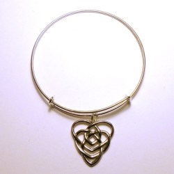 Motherhood Knot Bangle Bracelet