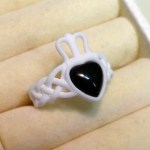 Version B of the Onyx Claddagh Ring