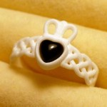 Version A of the Onyx Claddagh Ring