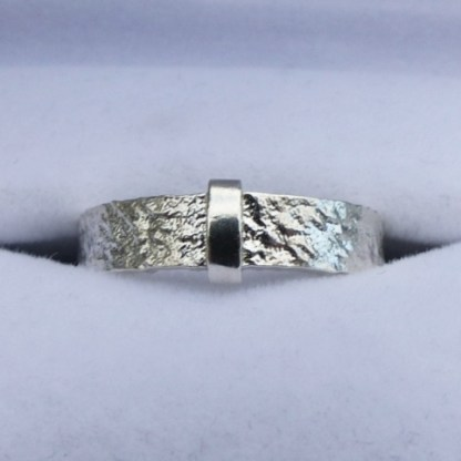 Raw Silver Outlander Ring