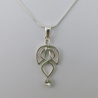 Leaf with Drop Necklace