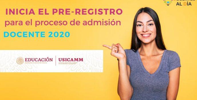 como hacer pre-registro al proceso de admisión docente 2020 sep