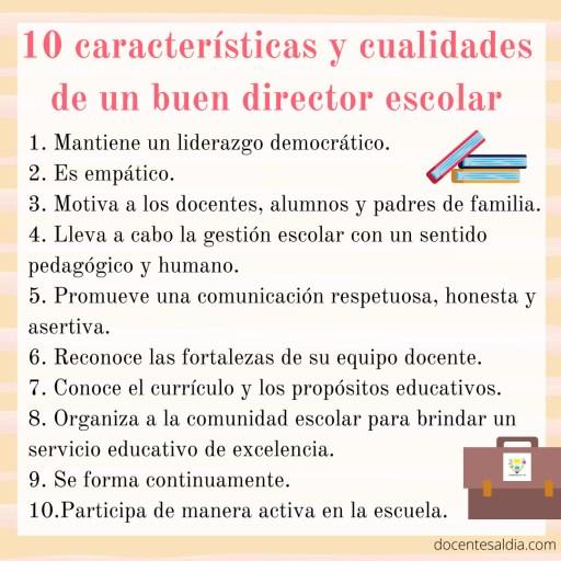 10 características y cualidades de un buen director escolar