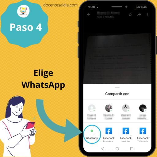 Cómo calificar trabajos en WhatsApp 4