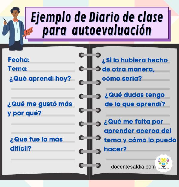 Diario de clase para autoevaluación ejemplo