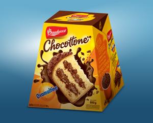 Campanha antecipada massa com chocolate e flocos crocantes de Ovomaltine.