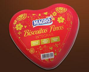 Novidade da Lightsweet: biscoitos com a marca Magro em edição limitada.
