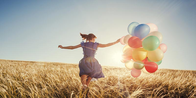 Concept of achieving your goals and happiness