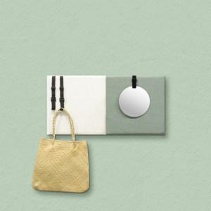 Dock Four groene wanddecoratie voor woon- & slaapkamer, kleine combinatie 8