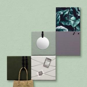 Dock Four groene wanddecoratie voor woon- & slaapkamer, extra grote combinatie 1