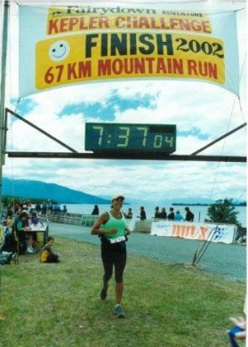 Pania completing the Kepler Challenge in 2002.
