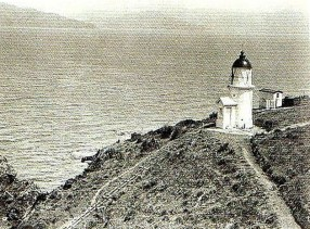 The lighthouse during the early 1900s.