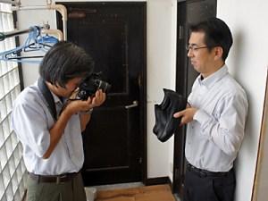 奈良新聞の撮影