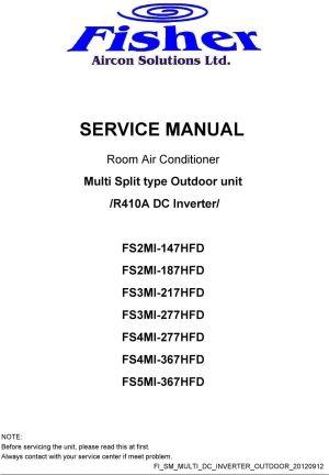 SERVICE MANUAL Room Air Conditioner Multi Split type Outdoor unit R410A DC Inverter  PDF