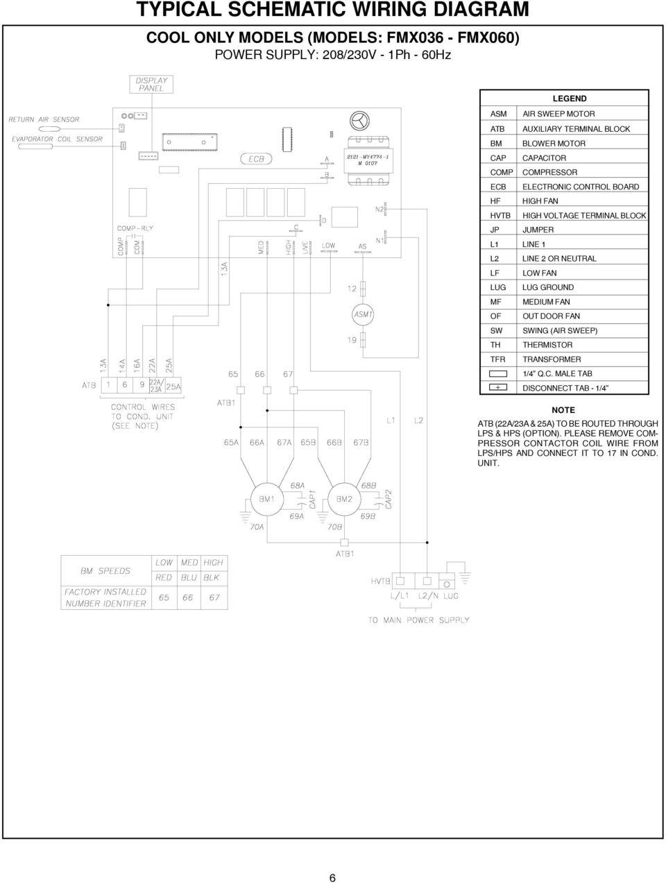 High voltage wiring diagram trane pressor westinghouse
