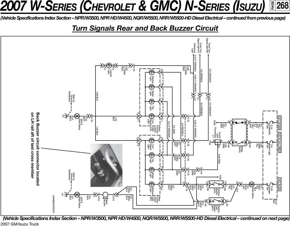 2007 W-SERIES (CHEVROLET & GMC) N-SERIES (ISUZU) 250 NPR