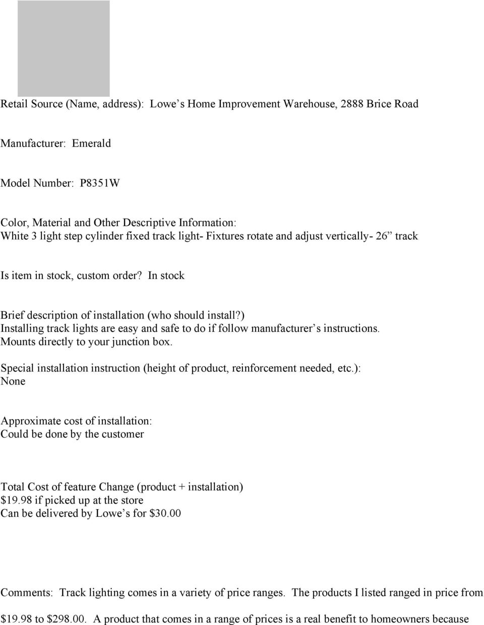 other lights lighting nos emerald 26 3 light track lighting kit model p8351w white business industrial
