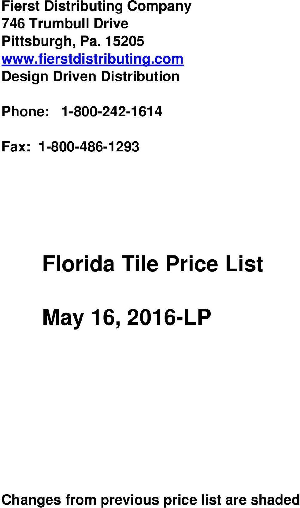 florida tile price list may 16 2016