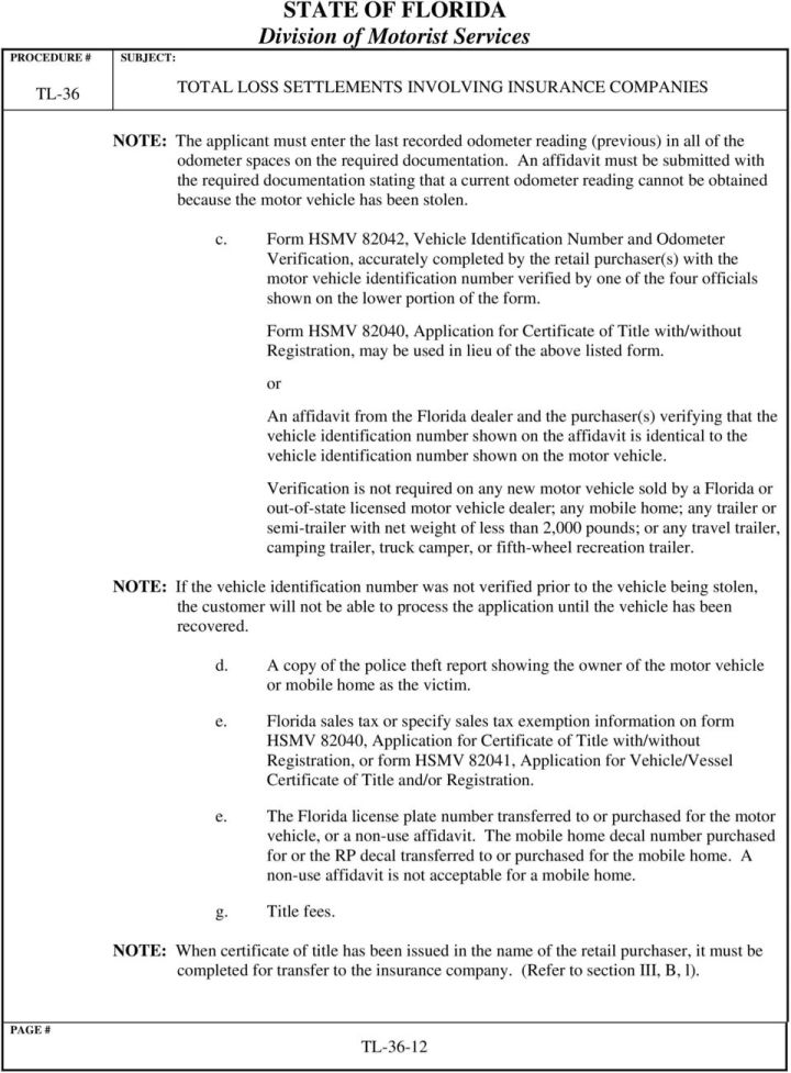 Florida Department Of Motor Vehicles Form 82040 Caferacersjpg Com