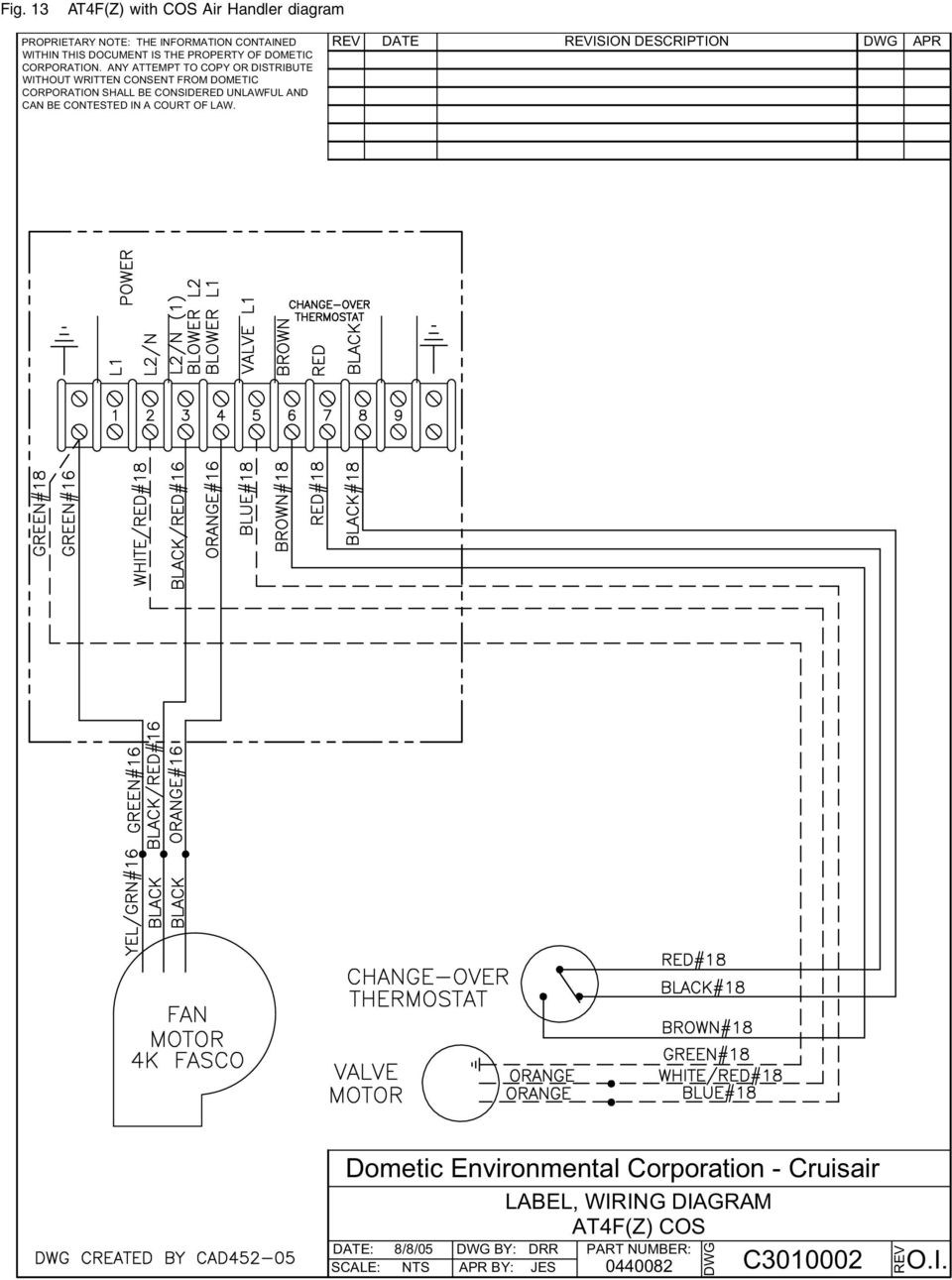 Dometic thermostat wiring diagram rv air
