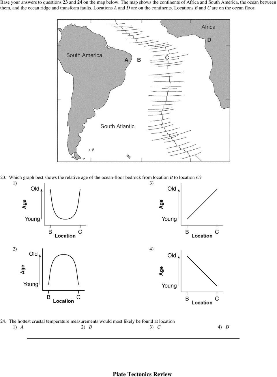 Mapping The Ocean Floor Worksheet Answer Key Floorviews Co
