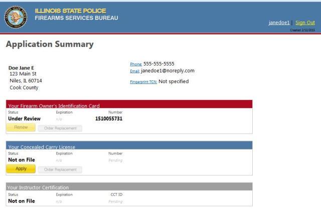 Foid Card Illinois Application Printable   Applydocoument co