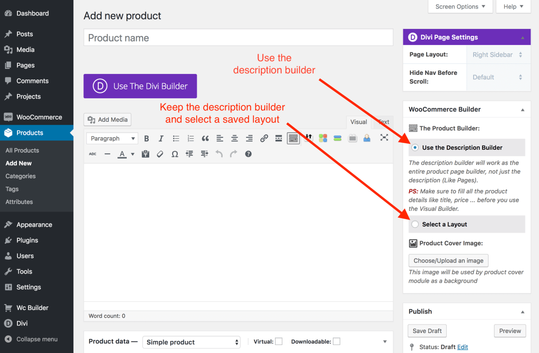 Build WooCommerce Product Layout - Documentation | Divi Kingdom