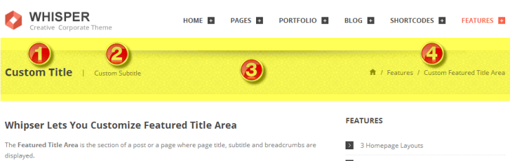 featured title area