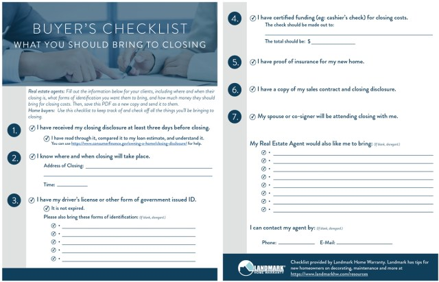 real estate closing checklist template free download champlain college publishing. Black Bedroom Furniture Sets. Home Design Ideas
