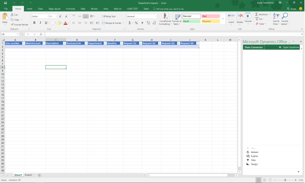 قوالب التخطيط للموازنة لـ Excel - Finance & Operations ...