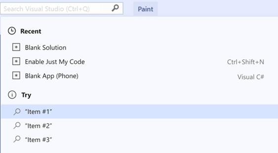 Visual Studio Search
