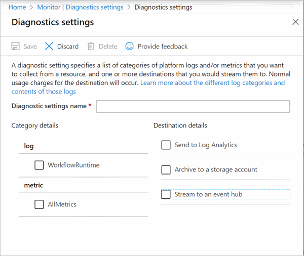 Add diagnostic setting
