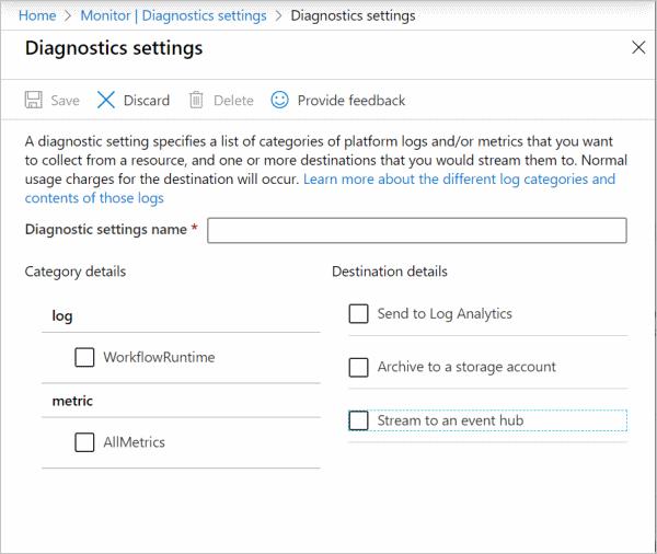 Add diagnostic setting