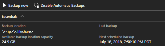 Azure Stack - on-demand backup