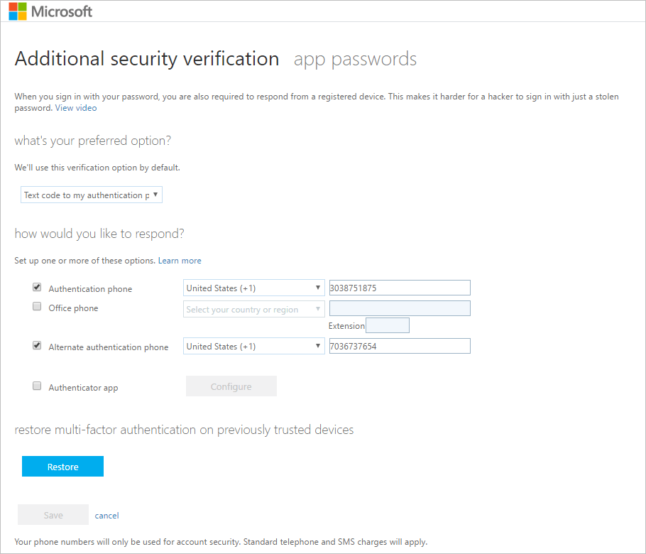 Microsoft Security App
