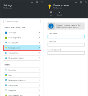 Image result for reset password azure domain controller