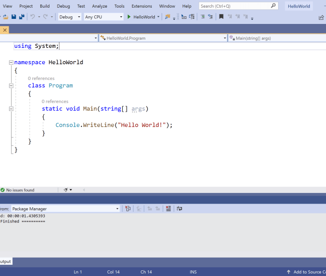 Visual Studio And The New Helloworld Project