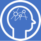 A stylized image showing a human head with linked circles where the brain is