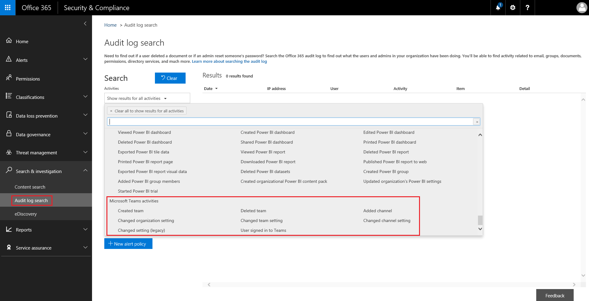 Search The Audit Log For Events In Microsoft Teams