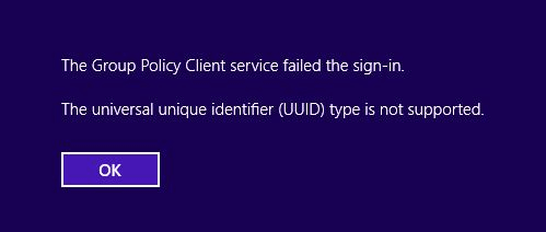 First sign-in fails with the universal unique identifier ...