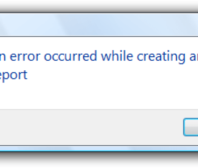 Screen Shot Of Message Error In Error Report