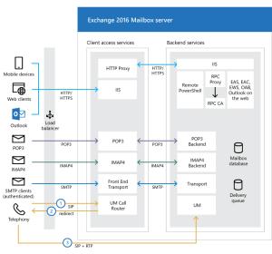 Exchange 2016 アーキテクチャ | Microsoft Docs