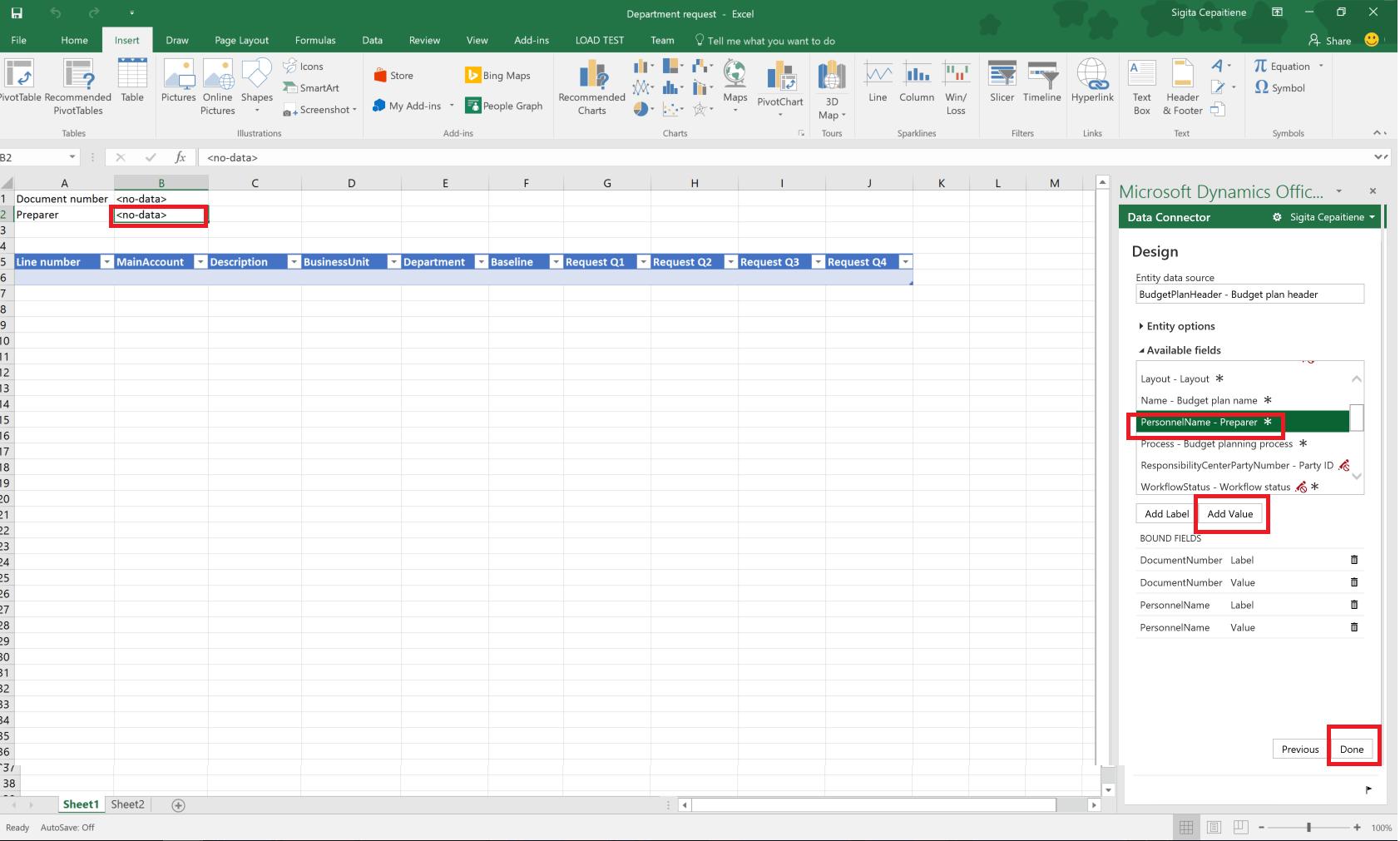 Biud Eto Planavimo Ablonai Skirti Excel