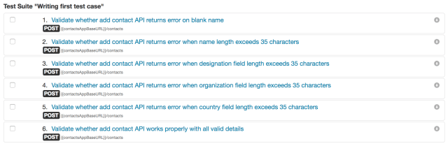 Writing your first test case - vREST Documentation - Optimizory