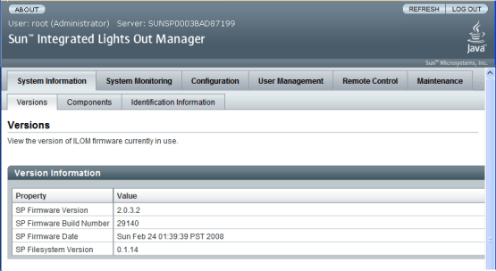 Oracle Integrated Lights Out Manager Default Credentials