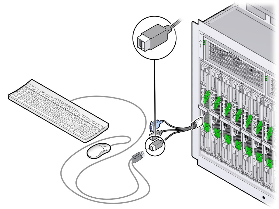 Attach A Keyboard And Mouse To The Dongle Or Server Module
