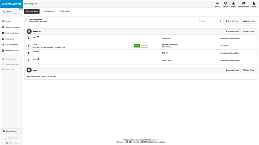 New User Managemement from 1.9.0 and up