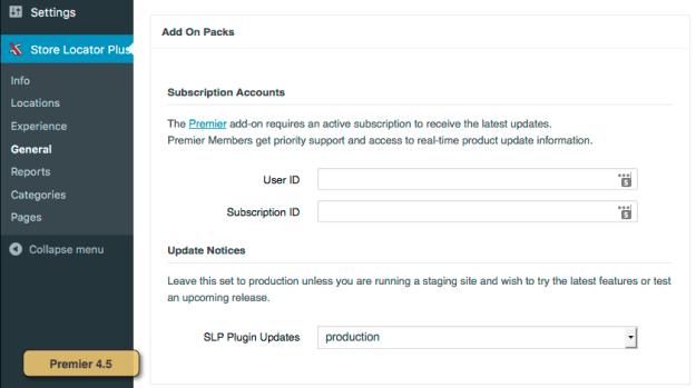 Premier 4.5 Subscription Registration