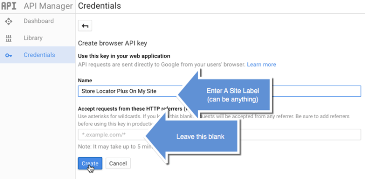Google API Key Step 3